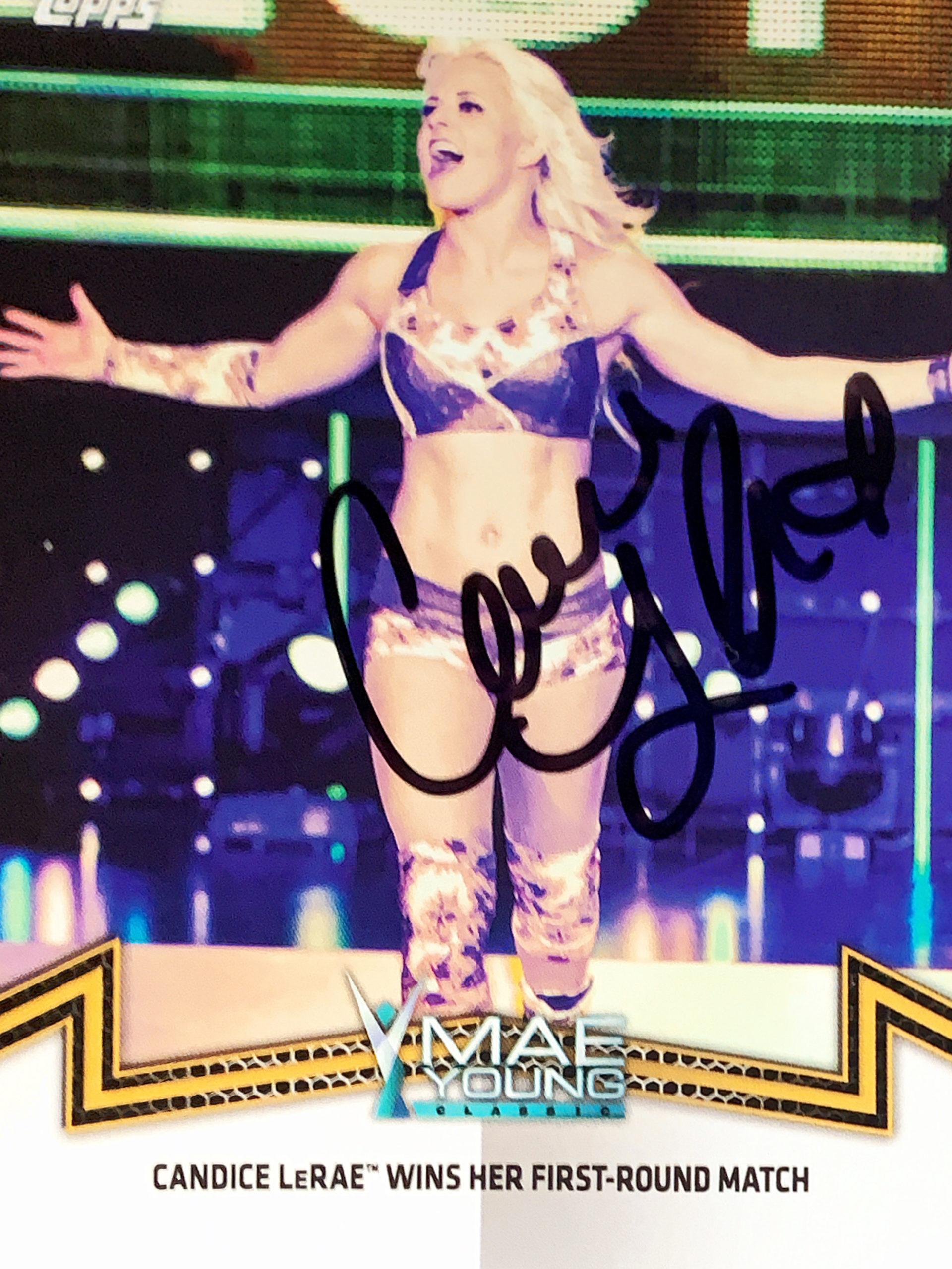 Candice LeRae autographed trading card