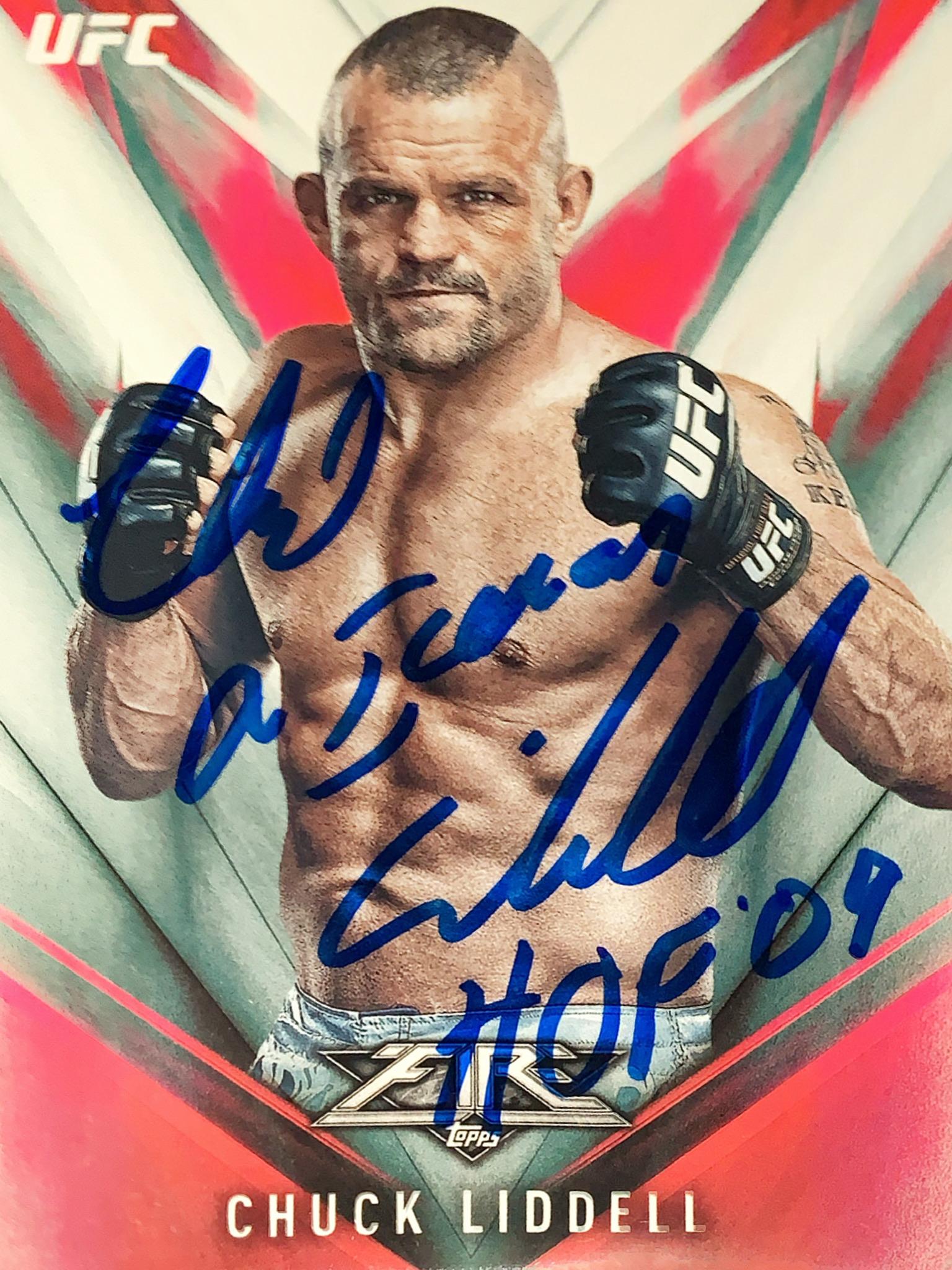 Chuck Liddell autographed card