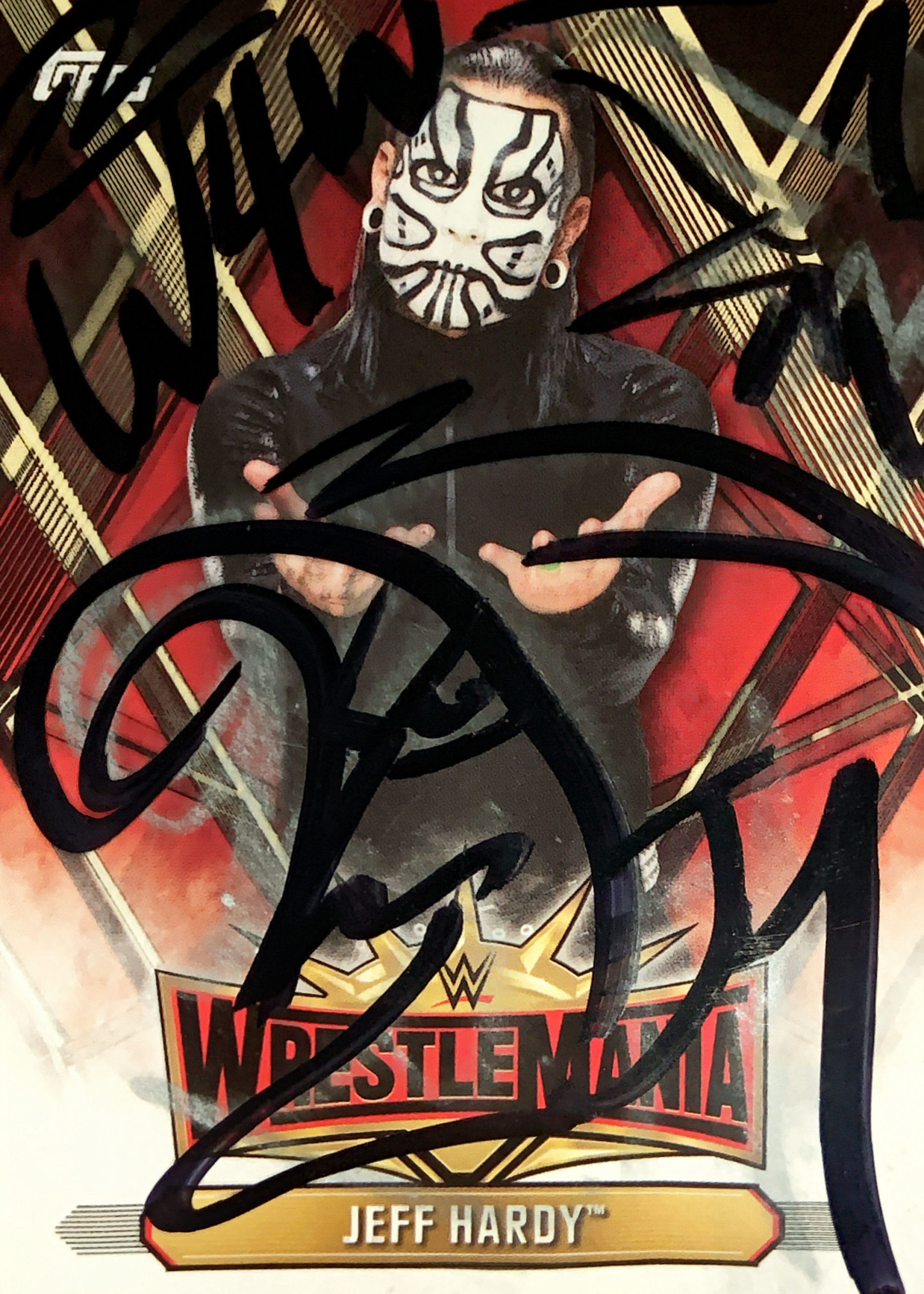 Jeff Hardy autographed trading card